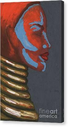 Tribal Silhouette Canvas Print