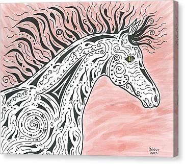 Tribal Spirit Wind Canvas Print by Susie WEBER