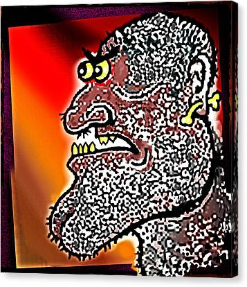 Tribal  Thinker Canvas Print by Hartmut Jager