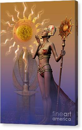 Tribal Time Keeper Canvas Print by Shadowlea Is