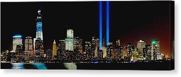 Tribute In Light Memorial Canvas Print by Nick Zelinsky