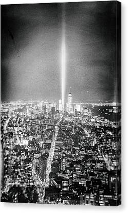 Plate 1 Canvas Print - Tribute In Light - New York City by Vivienne Gucwa