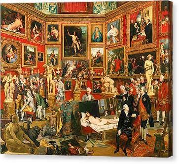 Tribute Of The Uffizi Canvas Print by Mountain Dreams