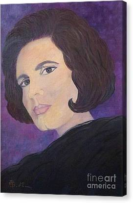 Tribute To Amalia Rodrigues The Queen Of Fado Canvas Print by AmaS Art