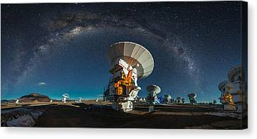 Tribute To Carl Sagan Canvas Print by Adhemar Duro