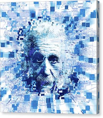 Features Canvas Print - Tribute To Genius by Bekim Art