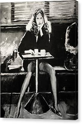 Tribute To Helmut Newton Canvas Print