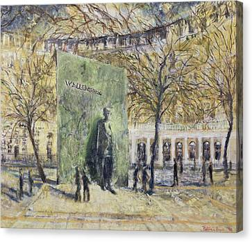 Tribute To Wallenberg, 1998 Oil On Canvas Canvas Print