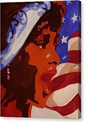 Tribute To Whitney Houston Canvas Print by Xueling Zou