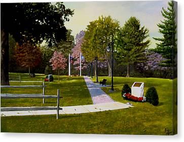 Tribute Walkway Canvas Print by Rick Fitzsimons