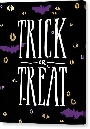 Trick Or Treat Canvas Print by Wild Apple Portfolio