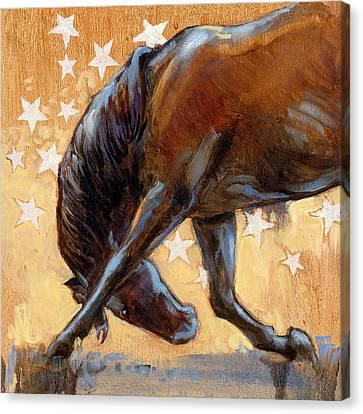 Tricky Pony Reverse Canvas Print