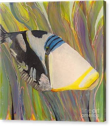 Triggerfish 2 Canvas Print by Anna Skaradzinska
