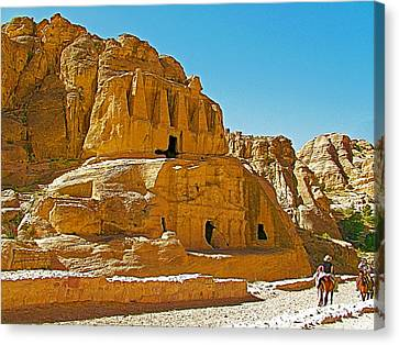 Petra Canvas Print - Triglinium Obelisk Tomb For A Nabataean Family Built In 1st Century Ad In Petra-jordan by Ruth Hager
