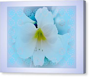 White Lily Canvas Print by Larry Capra