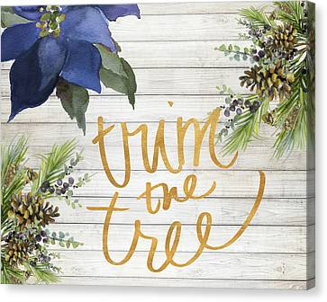 Trim The Tree Canvas Print
