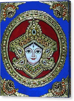 trinetra Durgaji Canvas Print by Vimala Jajoo