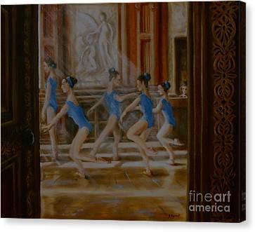 Tring Park The Ballroom Canvas Print by Yvonne Ayoub