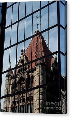 Trinity Chruch Reflected Canvas Print