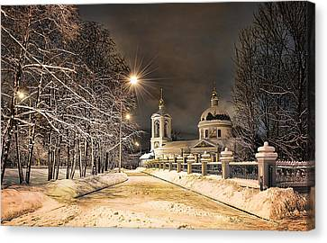 Canvas Print featuring the photograph Trinity Church by Gouzel -