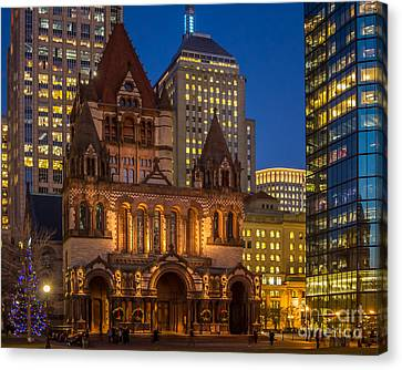 Trinity Church In Copley Square Canvas Print by Susan Cole Kelly
