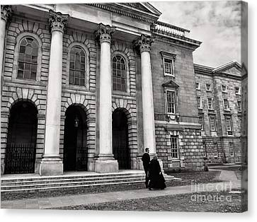 Canvas Print featuring the photograph Trinity College Examination Hall by Menega Sabidussi