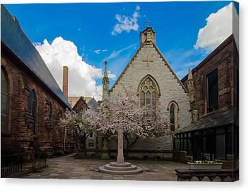 Trinity Courtyard Canvas Print by Guy Whiteley