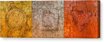 Mixed Media Triptych  Canvas Print