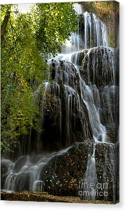 Trinity Waterfall In Monasterio De Piedra Park Canvas Print by RicardMN Photography