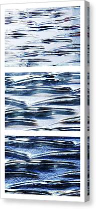 Canvas Print featuring the photograph Trio In Blue by Wendy Wilton