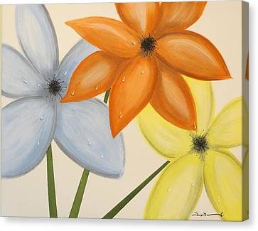 Trio Of Flowers Canvas Print by Tim Townsend