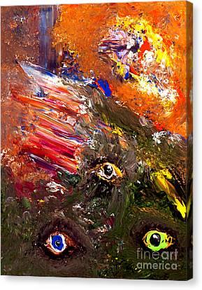 Aperture Canvas Print - Trio Optique by Ayasha Loya