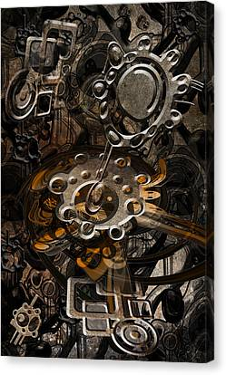 Canvas Print featuring the digital art Trip 9 by Andy Walsh
