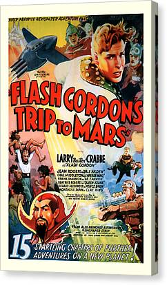 Trip To Mars 1938 Canvas Print by Presented By American Classic Art