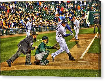 Triple Crown Winner Detroit Tigers Miguel Cabrera Canvas Print by A And N Art