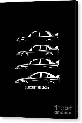 Triple Diamonds Silhouettehistory Canvas Print by Gabor Vida