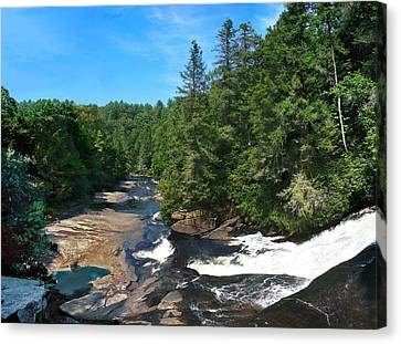 Triple Falls North Carolina Canvas Print by Steve Karol
