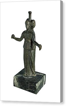 Triple Form Of Hecate Around A Column Canvas Print