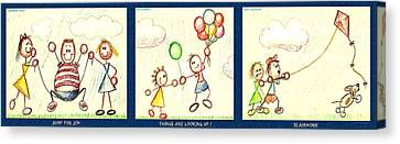 Triple Fun Canvas Print by Cristophers Dream Artistry