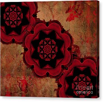 Triple Red Rose #1 Canvas Print