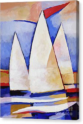 Triple Sails Canvas Print by Lutz Baar