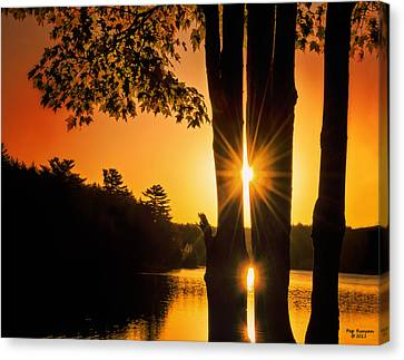 Triple Sunburst Morning Canvas Print