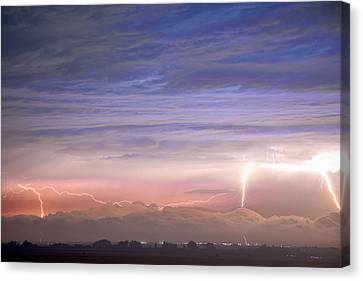 The Lightning Man Canvas Print - Triple Threat by James BO  Insogna