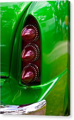 Triple Vertical Tail Lights Canvas Print by Mick Flynn
