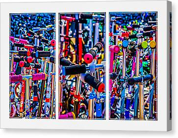 Toy Shop Canvas Print - Triptych - High Time To Buy A Scooter by Alexander Senin