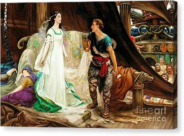 Tristan And Isolde Canvas Print by Celestial Images