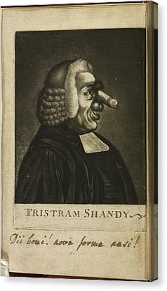 Tristram Shandy By Laurence Sterne Canvas Print by British Library