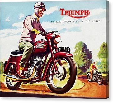 Triumph 1958 Canvas Print