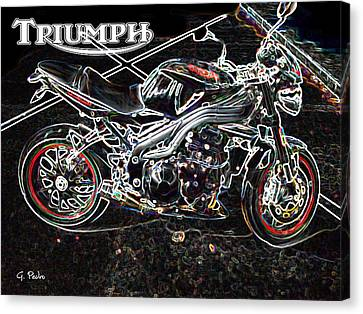 Triumph Abstract Canvas Print by George Pedro