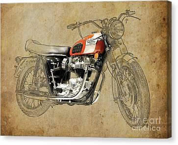 1969 Canvas Print - Triumph Bonneville 1969 by Pablo Franchi